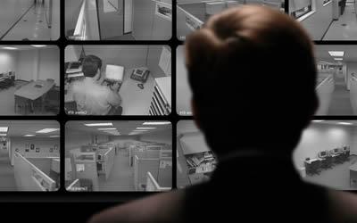 cctv monitor employee