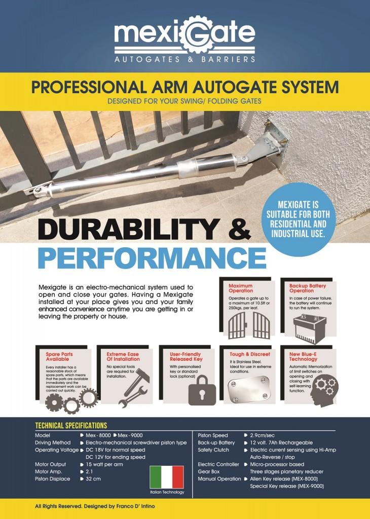 Mexigate Autogate Arm System