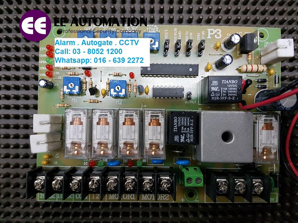 Swing gate control panel p3